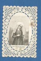 IMAGE PIEUSE CANIVET    HOLY CARD SAINTE VICTORINE DURAND PARIS