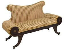 Charming French Empire Style Upholstered Settee, 19th Century ( 1800s )