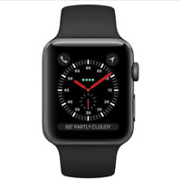 Apple Watch Series 3 (GPS) 42mm Space Gray Aluminum Case with Black BUNDLE