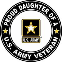 """Proud Daughter of a US Army Veteran 5.5"""" Sticker / Decal 'Officially Licensed'"""