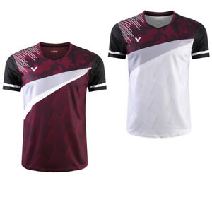 New Outdoor sports Tops Table tennis clothing men's badminton T-shirt