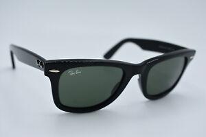 Ray-Ban Sunglasses RB 2140 901 Wayfarer Black Green Men Women Italy 50[]22 #3105