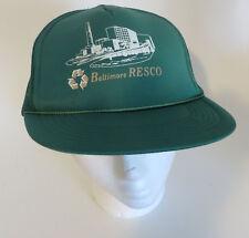 Vtg Baltimore Resco Waste Management Hat Snapback Baseball Cap
