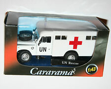 Cararama - LAND ROVER S3 109 (UN Rescue) Model Scale 1:43
