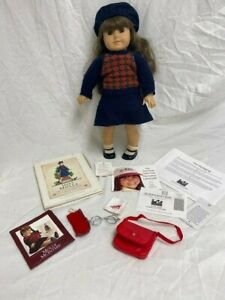 """Retired Pleasant Company Molly American Girl Doll in Meet Outfit 18"""" doll EXC"""