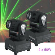 2PCS 50W Stage Lighting Spot GOBO RGBW LED Moving Head DMX Disco DJ Party Lights