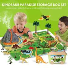 Dinosaur Figure Scene Educational Realistic Toy with Play Mat