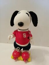 Vintage Peanuts Snoopy on Skates Collector Doll figure Determined Roller Skater