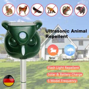 Ultraschall Solar Vogelabwehr Vogelschreck Gartenschutz Tiervertreiber Repeller✅