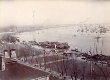 View of Wangpoo river Shanghai China  Photo 1906/7 (NOT Postcard)