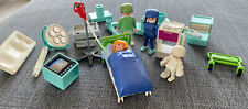 Vintage Playmobil City Hospital Clinic Operating Room Surgeon Doctor Lot 2sets
