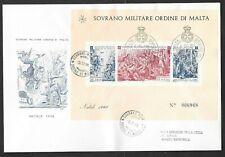 SMOM 1968 FDC Foglietto Natale (A)