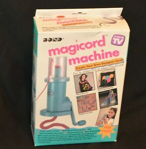 VINTAGE 1994 BOND MAGICORD MACHINE AS SEEN ON TV KNITTING LOOM LOOKS UNUSED