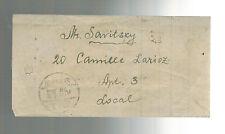1944 Shanghai China Letter Cover Jewish Ghetto Foch Pharmacy Bill to Mr Savitsky