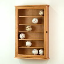 Baseball Display Case Wall Cabinet *Made in the USA*