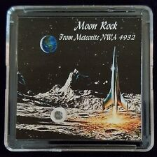 COLLECTOR EDITION- AUTHENTICATED LUNAR METEORITE- 15mg Moon Rock Display+Easel