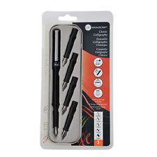 MANUSCRIPT CLASSIC 5 NIB LEFT HAND HANDED CALLIGRAPHY FOUNTAIN PEN INK SET & TIN