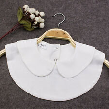 Girl Fashion Fake Half Shirt Blouse Round Collar PeterPan Detachable Tie Cosplay
