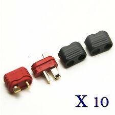 10 Pairs T Plug Deans Connector w/ Sheath Housing Male & Female for RC Battery