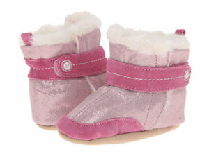 NIB STRIDE RITE Shoes Boots Booties Precious in Pink Faux Fur 3-6m 2