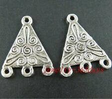 60pcs Tibetan Silver Triangle 3-to-1 Connectors 21.5x16mm 42