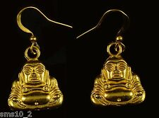 Hand Made Gold Colour Buddha Earrings HCE058