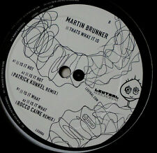 "MARTIN BRUNNER THATS WHAT IT IS 12 "" MAXI (LEUTRAL)"