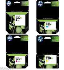 SET 4 HP 920XL HP920XL BLACK  CYAN MAGENTA YELLOW INK ORIGINAL INK CARTRIDGES