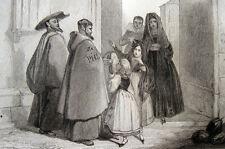 España medalla Hermanos recibir limosnas 1840 frailes recibiendo limosna España
