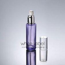 50ML PURPLE CLEAR GLASS COSMETIC LOTION BOTTLE PUMP WHOLESALE- NEW 50PCS/LOT