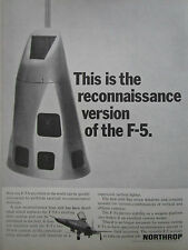 5/1967 PUB NORTHROP F-5A RECONNAISSANCE VERSION CAMERA ORIGINAL AD