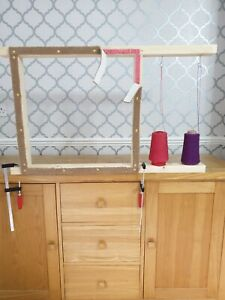 Tufting gun rug frame 60cms x 60cms suitable for use with tufting guns