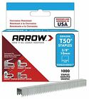 Arrow Fastener 506SS1 Genuine T50 Stainless Steel 3/8-Inch Staples, 1,000-Pack