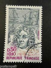 FRANCE 1973, timbre 1748,  DUGUAY-TROUIN CELEBRITY, oblitéré, VF USED STAMP