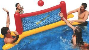 Piscine Gonflable Pataugeoire Volley-Ball Filet Jeu BALL Extérieur Plage Jeu