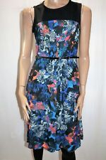 Table Eight Brand Floral 'Blair' Print A Line Dress with Belt Size 10 BNWT #TN84