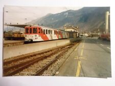 Photo - Rame en attente de départ pour Vallorcine - Suisse - Chemin de Fer