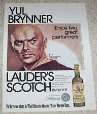 1976 ad page - YUL BRYNNER for Lauder's Scotch Whisky vintage PRINT ADVERT