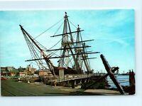 US Frigate Constitution Old Ironsides Oldest in Navy Boston MA Vintage Postcard