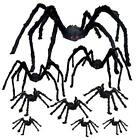 9Pcs Hairy Spiders Set for Halloween Props Indoor and Outside Decorations (5