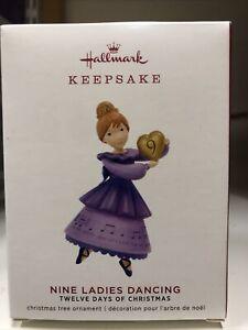 Hallmark Nine Ladies Dancing 12 Days of Christmas Keepsake Ornament 2019 NIB