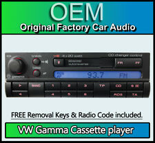 VW Passat Gamma Cassette player, Volkswagen 3B0035186A car stereo + radio code