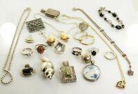 Jewelry Lot Sterling Silver  All Marked 164.5 g - Rings Bracelets Earrings ETC