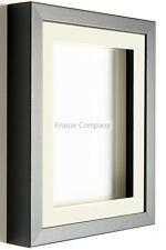 Blanco O NEGRO CUADRO MADERA FOTO 3d Caja Marcos Con Soportes de Frame Company