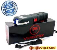 VIPERTEK VTS-989 - 999 MV Rechargeable LED Light Stun Gun Heavy Duty