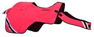 Equisafety Hi Viz Waterproof Winter Wrap Around Exercise Sheet Rug - Pink