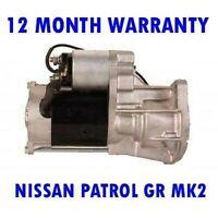 Nissan Patrol G Mk2 Mk II 3.0 2000 2001 2002 2003-2015 Motor de Arranque