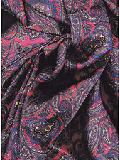 Calico #1 Wild Rag Red & Blue Paisley Western Scarf by Wyoming Traders Pure Silk