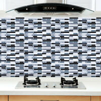 3DWaterproof Wall Paper Sticker Mosaic Self-adhesive Tile Floor Bathroom Kitchen
