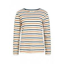 Seasalt Ladies Sailor Shirt. Navy/tan and Ecru Size 18.